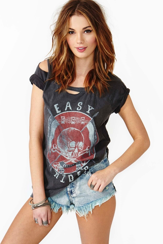 Easy Rider Tee --cut dolly shirt like this