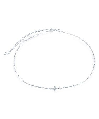 Loving this Sterling Silver Cross Pendant Choker Necklace on #zulily! #zulilyfinds