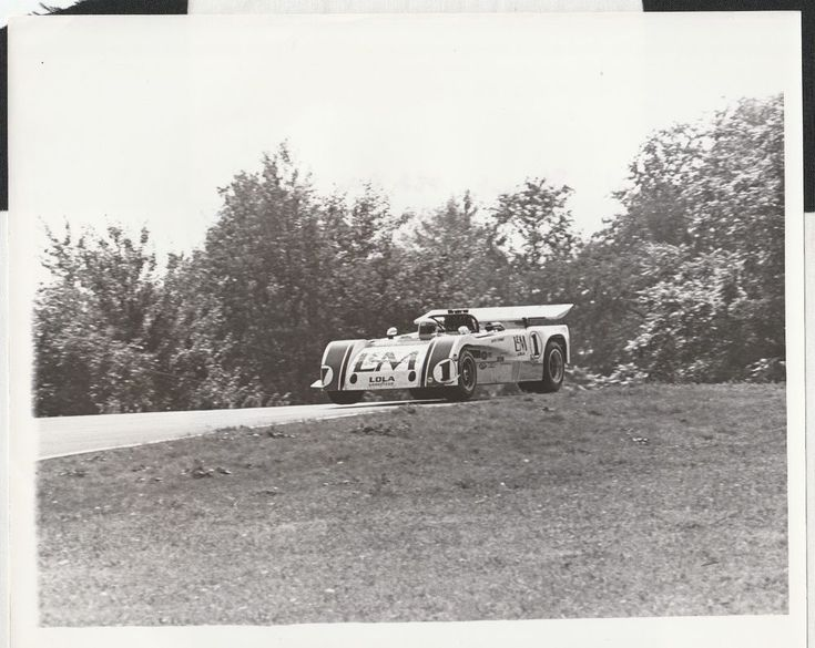 JACKIE STEWART HAAS LOLA T260 CAN-AM MID OHIO 1971 ORIGINAL PERIOD PHOTOGRAPH