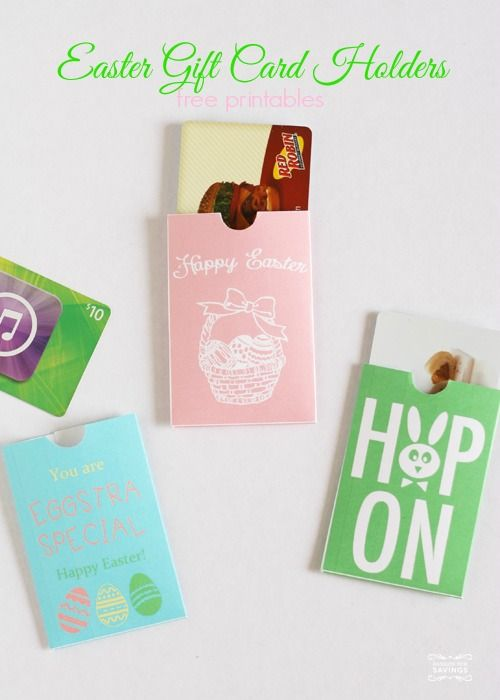 68 best cheap gift ideas images on pinterest christmas gift easy easter gift ideas free printable gift card holders great non candy easter negle Images