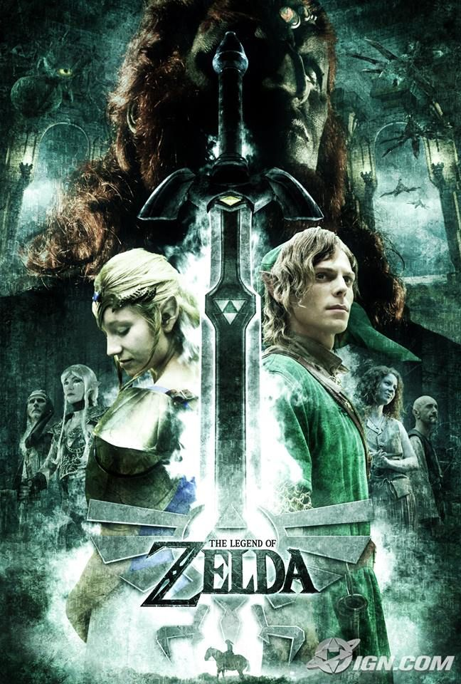 #LegendofZelda Fan Movie Poster...someday i really hope someone makes a movie out of a video game.