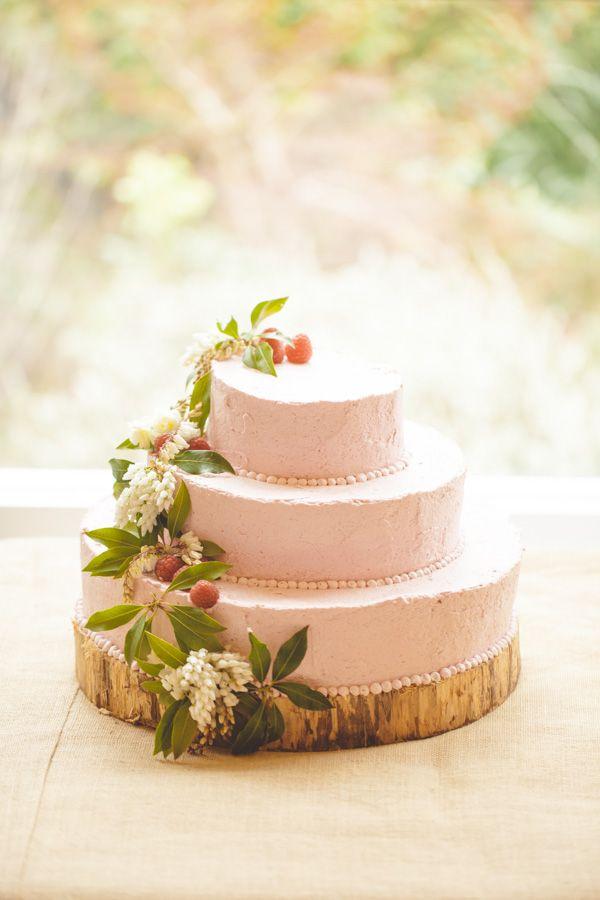 Pink Raspberry Cream Wedding Cake By Julie Bilbro