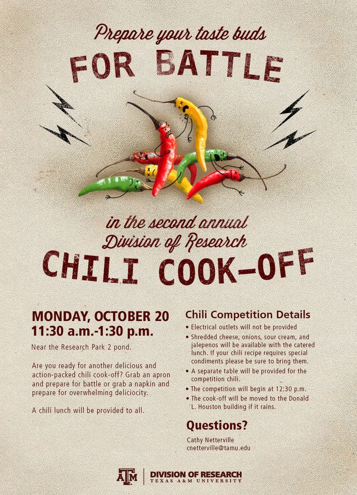 chili cook poster