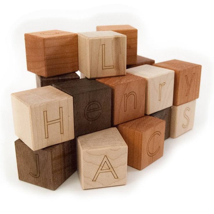 105 best blocks images on pinterest childhood crafts and figurines personalized wooden blocks alphabet letter baby toys modern wood name blocks lots of really nice wooden toys negle Gallery