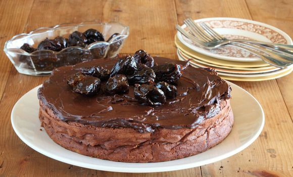 Maggie Beer's chocolate and prune cake