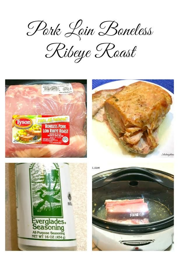 Pork Loin Boneless Ribeye Roast is so easy to make in your slow cooker! Simply add the ingredients in the morning and come home to a delicious dinner! #pork #loin #slowcooker #entree #recipe
