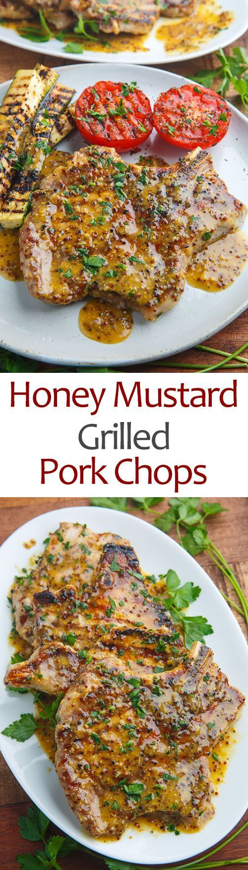 Honey Mustard Grilled Pork Chops More