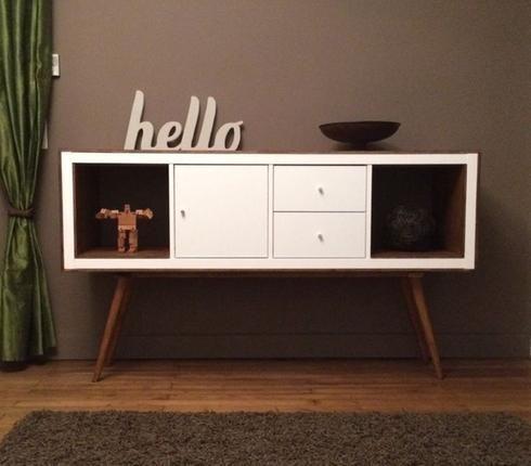 Rangement IKEA vintage, ajout de bois