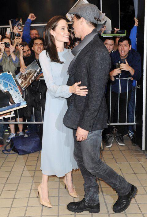 Brad Pitt and Angelina Jolie Look So in Love at the Premiere of Their New Movie from InStyle.com
