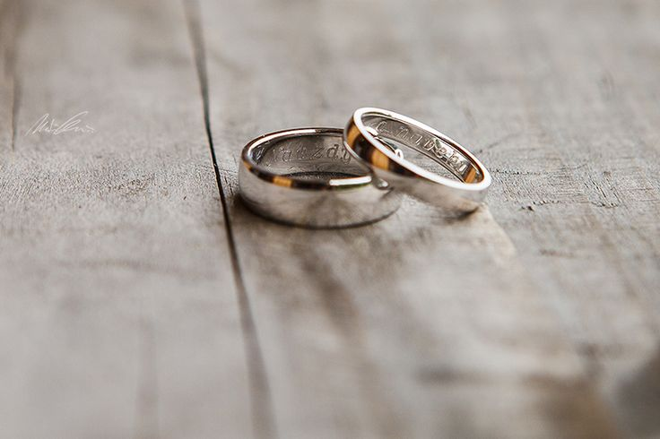"""Wedding bands """"Forever and ever"""""""