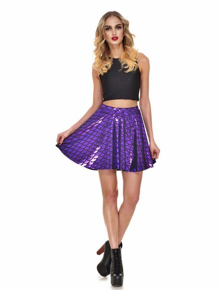 Mermaid Scale Skater Skirt