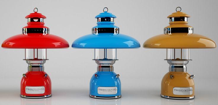 Diseño de escena en 3d del prototipo de una lampara para inicio de producción vista 2