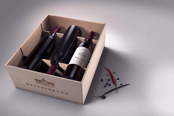 Wine Case Mock-up by vatesdesign on @creativemarket