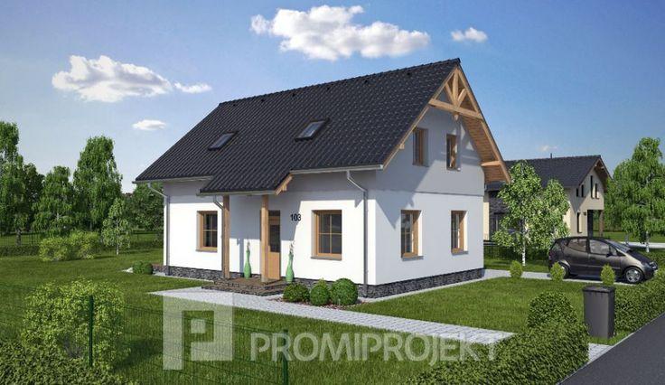 Katalógový projekt malého dvojgeneračného rodinného domu Štandard 103, vizuál 1, Promiprojekt