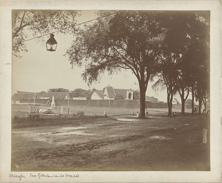 Fort Rotterdam in Makasar (Sulawesi, Indonesia), photo by Woodbury & Page, 1850