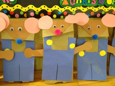 If You Take a Mouse to School - paper bag puppet