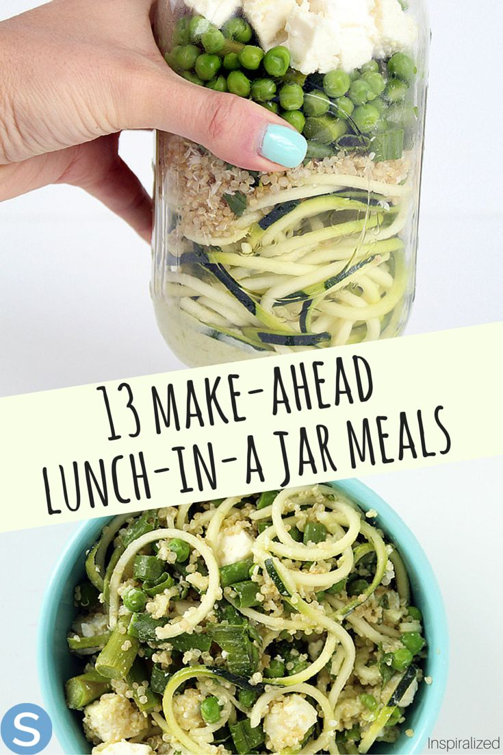 These delicious 13 make-ahead lunches in a jar will change the way you eat lunch!  Theses are the best way to pre-make your lunches this week! http://www.simplemost.com/13-make-ahead-ridiculously-good-lunch-jar-lunches-arent-salad/?utm_campaign=social-account&utm_source=pinterest.com&utm_medium=organic&utm_content=pin-description