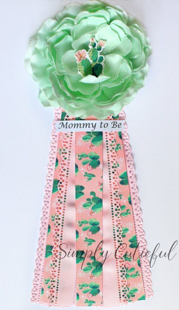 Cactus Succulents Baby Shower Corsage Mommy Grandma To Be Cactus