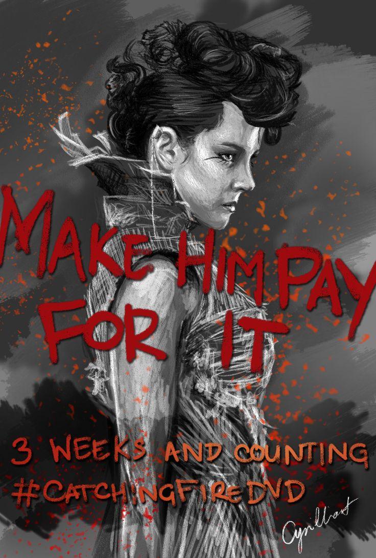 """Make him pay for it."" - Johanna Mason, #CatchingFireDVD"
