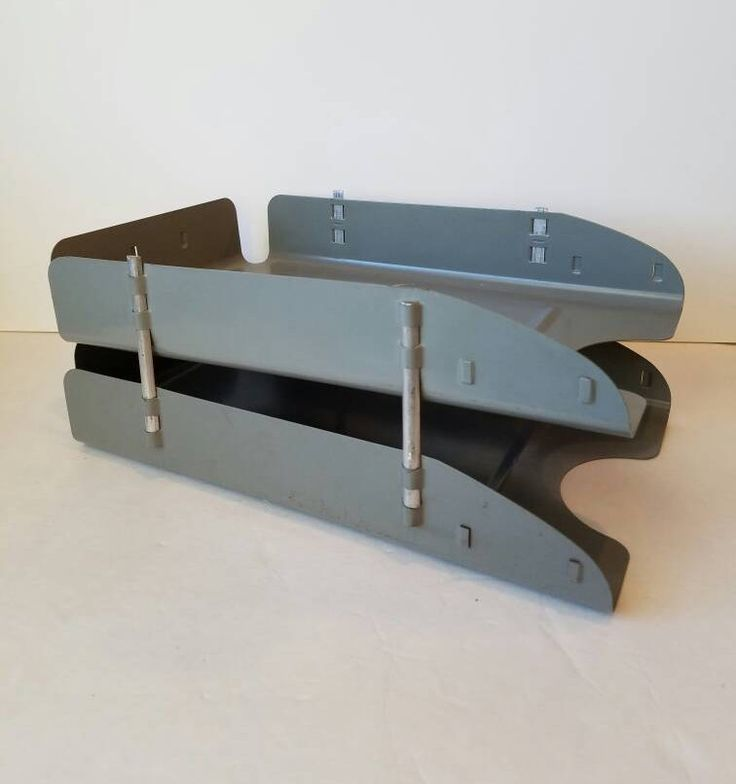 Vintage Metal Legal Paper Tray Double Paper Tray Office Storage Organization Desk Decor Mid Century 1960s Industrial Office In Out Tray by SissyBoomsPartyRoom on Etsy