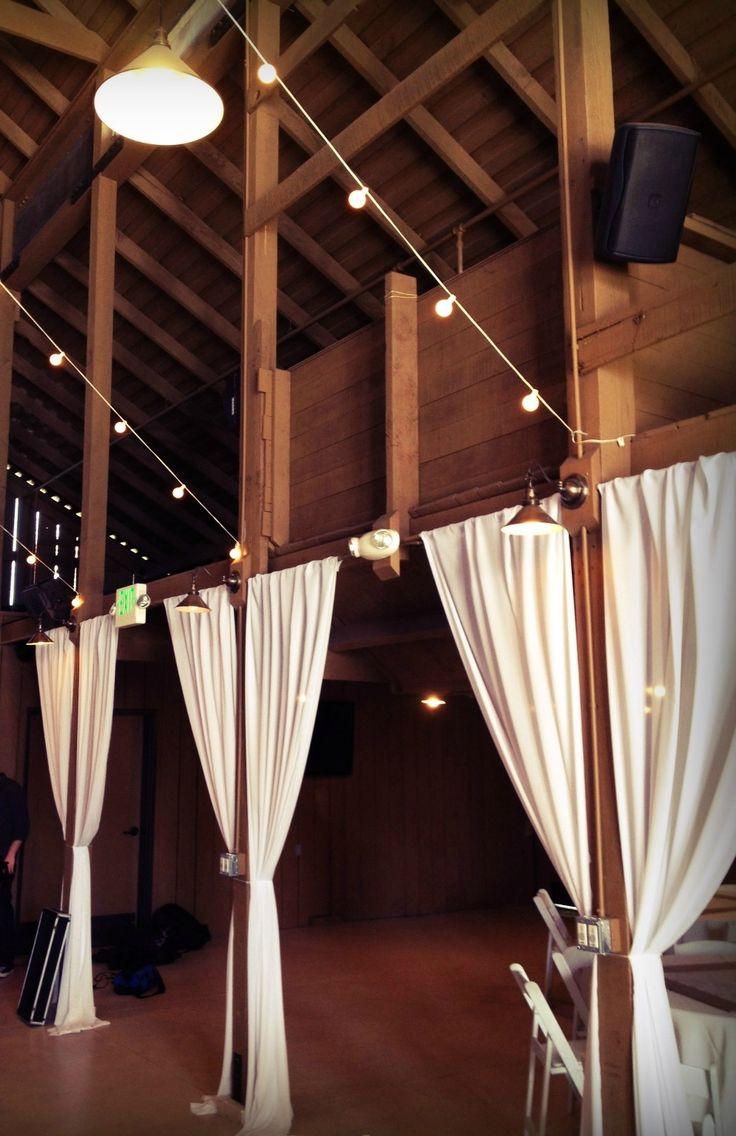 barn wedding, barn drapery, Camarillo Ranch, www.partypleasers.com
