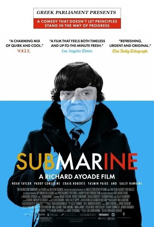 #akis starring at the Submarine movie  ;)