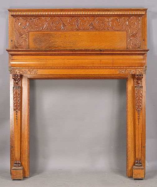 403-antique-carved-lion-fireplace-mantle.jpg (504×600)