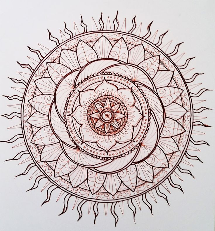 My first mandala. Anyone care to color it?