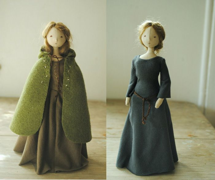 Tiny cloth dolls by Willowynn available Wednesday 10 August from 10am (EDST).