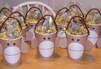 These cute DIY monkey face favor cups are great for a monkey themed birthday party