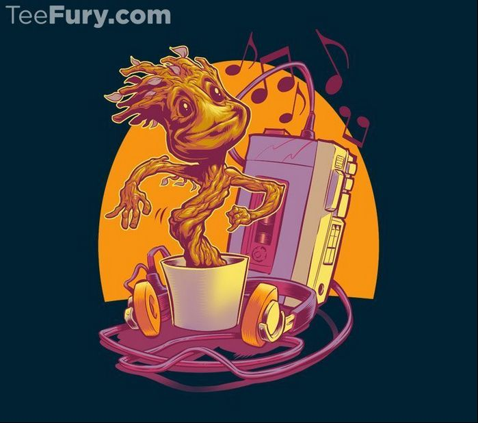 Great Groot shirt design at Tee Fury today