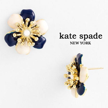 KATE SPADE posey park floral stud earrings ケイトスペード ピアス