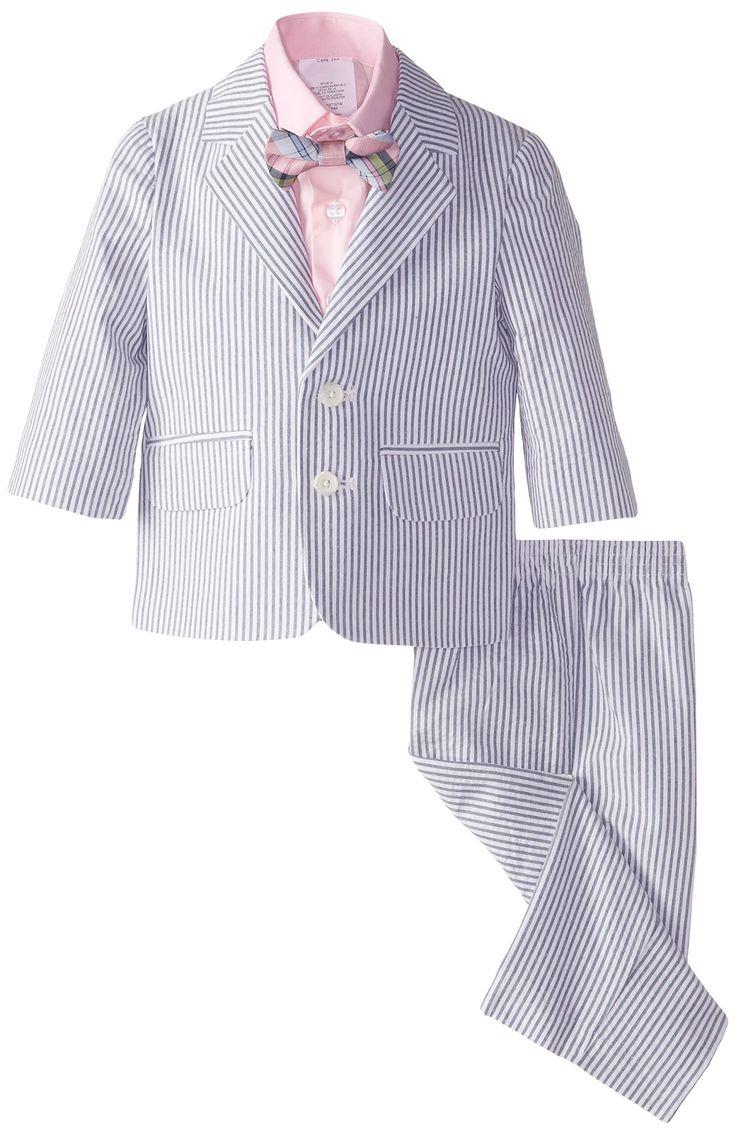 Amazon.com: Nautica Baby-Boys Infant Seersucker Suit Set ...