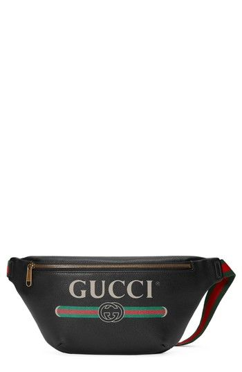352811efc724 GUCCI FAKE LEATHER HIP PACK - BLACK. #gucci #bags #leather # | Gucci ...