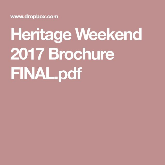 Heritage Weekend 2017 Brochure FINAL.pdf