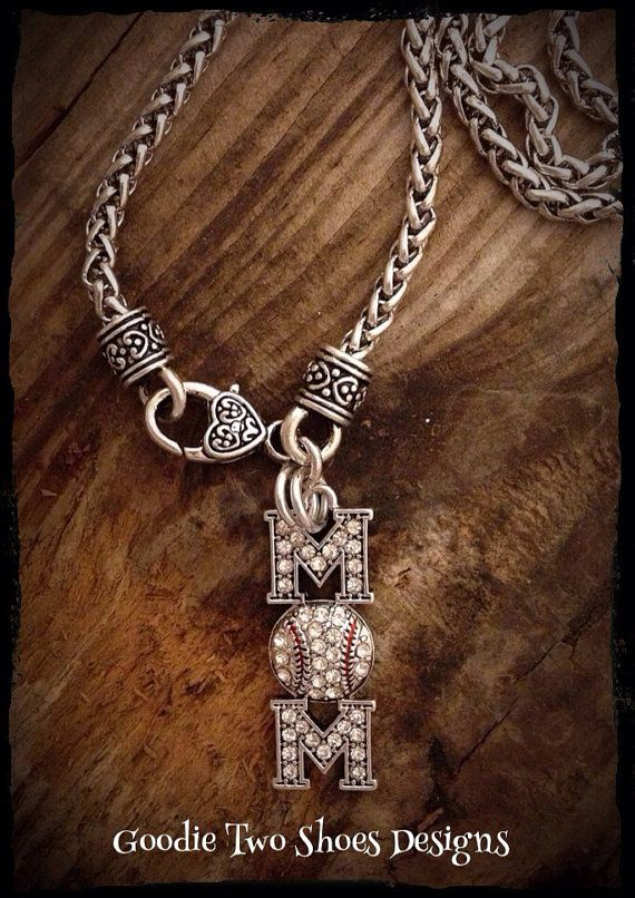 Baseball Mom Baseball Necklace Baseball Jewelry by mygoodie2shoes