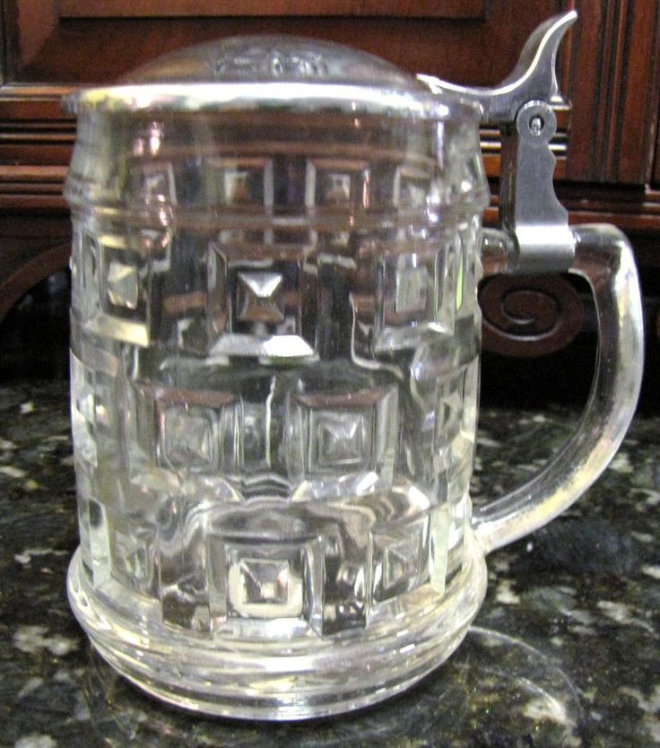 Toscano Tewkesbury Inn Pub: Leonard Crystal & Silver Plated Lidded Beer Stein