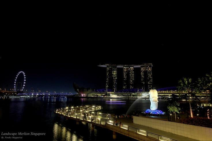 city landscpe at merlion singaopre