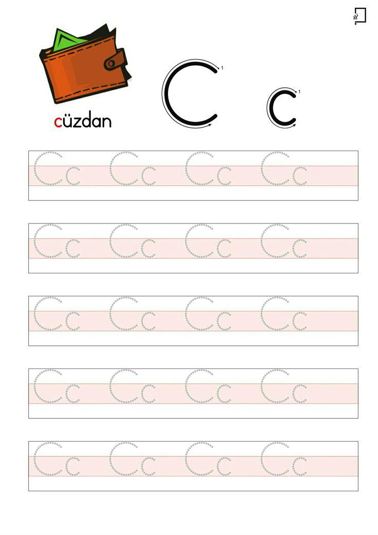Okul Öncesi Okuma Yazma Etkinlikleri C Harfi