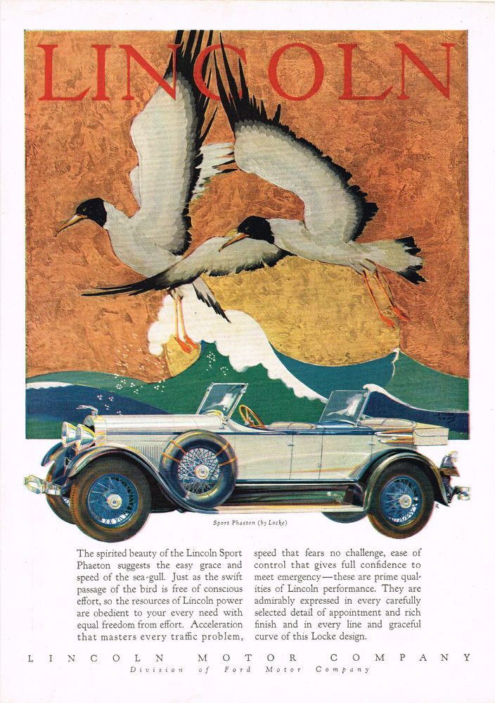 Print Old Car With Bird