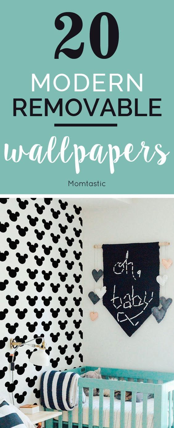 Removable wallpaper is a great way to decorate my kids' room without taking a big risk. These are beautiful, and when you're tired of them they peel right off!