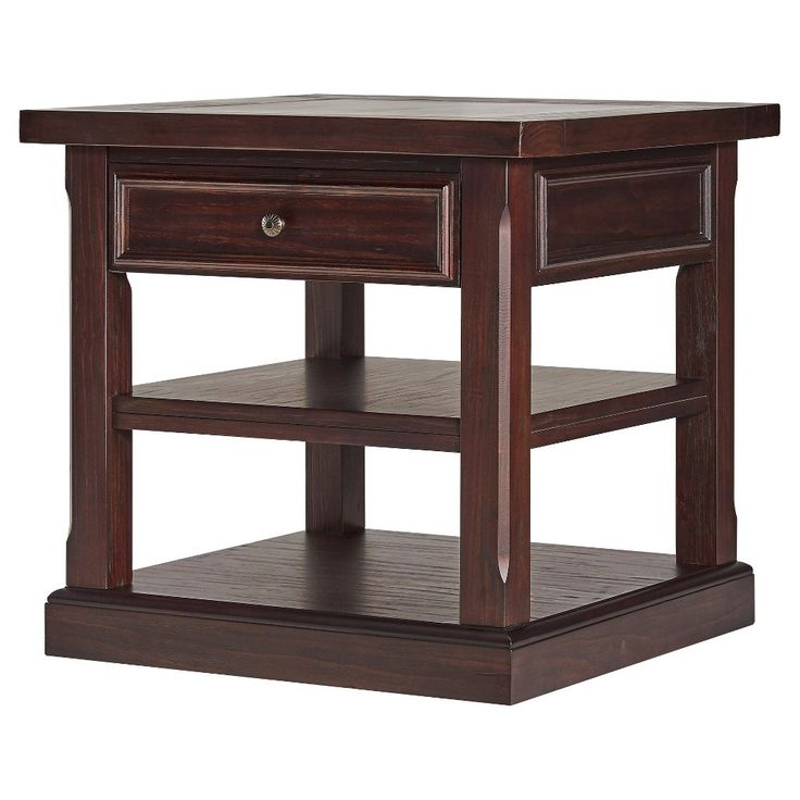 Grafton Traditional End Table - Distressed Espresso - Inspire Q
