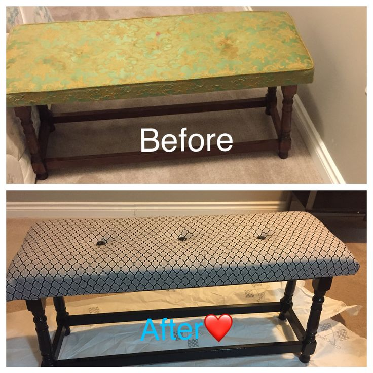I gave this old bench,a makeover to a more modern look 👀