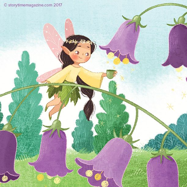The fairies come out to play in our Welsh folk tale, Elidor and the Golden Ball in Storytime Issue 30! Art by Nina De Polonia (https://www.behance.net/ninyanernel) ~ STORYTIMEMAGAZINE.COM