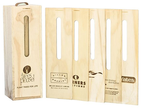 Branding - hot stamping available on all our tree gift boxes. Contact ruth@nztreesplease.co.nz