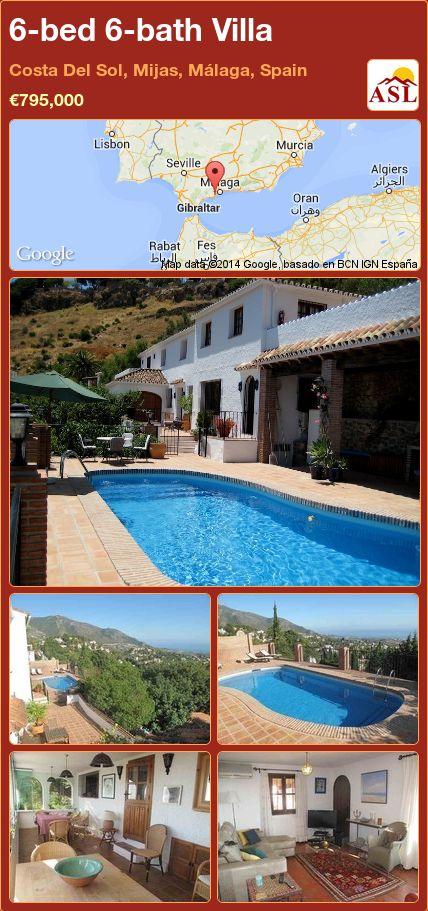 6-bed 6-bath Villa in Costa Del Sol, Mijas, Málaga, Spain ►€795,000 #PropertyForSaleInSpain