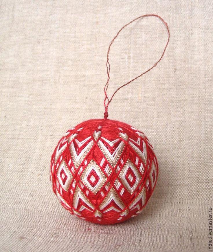 Изготавливаем новогодние шары-темари - Ярмарка Мастеров - ручная работа, handmade