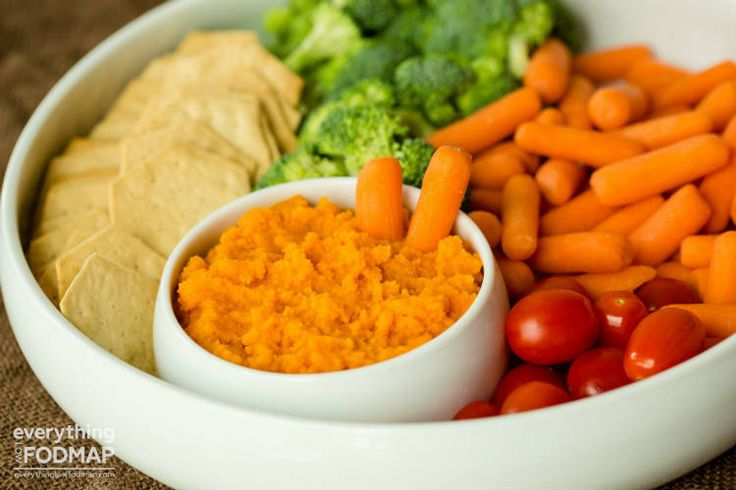 Carrot dip - Enjoy this low FODMAP dip recipe with brown rice crackers, gluten-free pretzels, or as a spread.