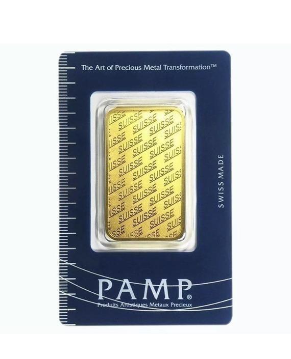 1 Oz Vintage Gold Bar Pamp Suisse New Design In Assay 1977 1979 Vintage Gold News Design