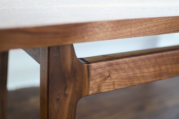 Fredderick Design Co Mid Century Modern Coffee Table Legs Curved Joinery Mortise Modern Table Legs Mid Century Modern Table Mid Century Modern Coffee Table